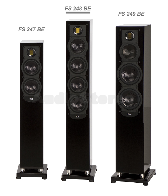 ELAC FS FS 247, FS 248 and FS 249 Black Edition group picture